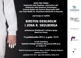 Wykład Kristen Dehlholm i Jona R. Skulberga