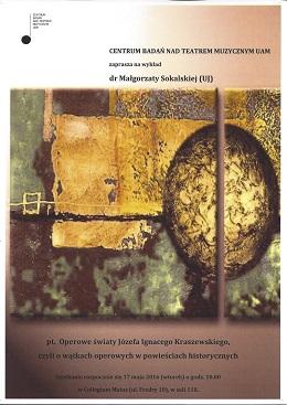 wykład dr Małgorzaty Sokalskiej