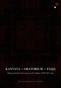 Kantata – oratorium – pasja
